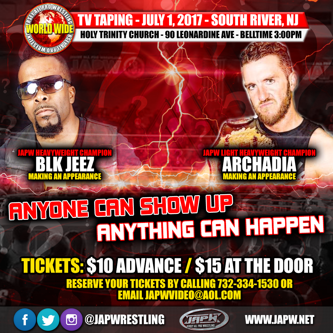 JAPW World Wide TV taping This Saturday 7/1!