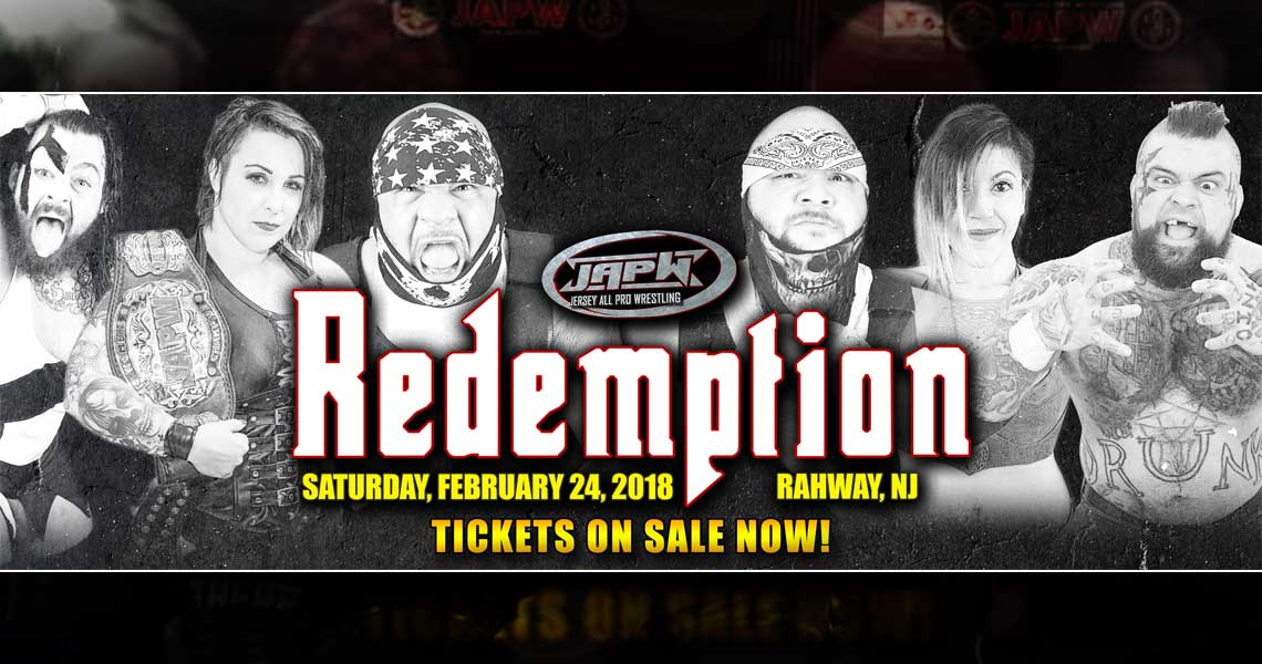 JAPW 2/24 Redemption Tickets Now On Sale