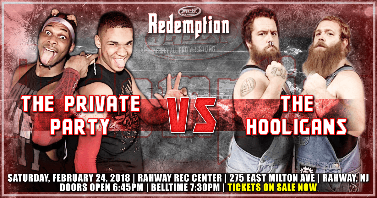 Breaking News: The Private Party take on The Hooligans on 2/24!