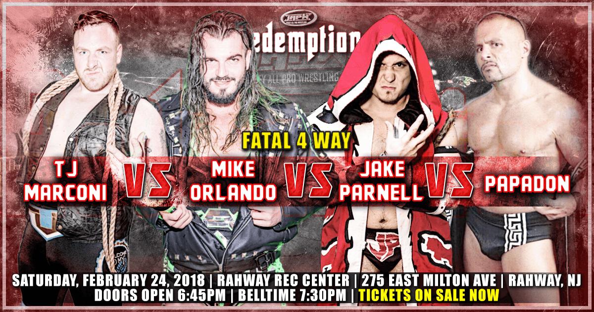 Fatal 4 Way Signed for Redemption on 2/24