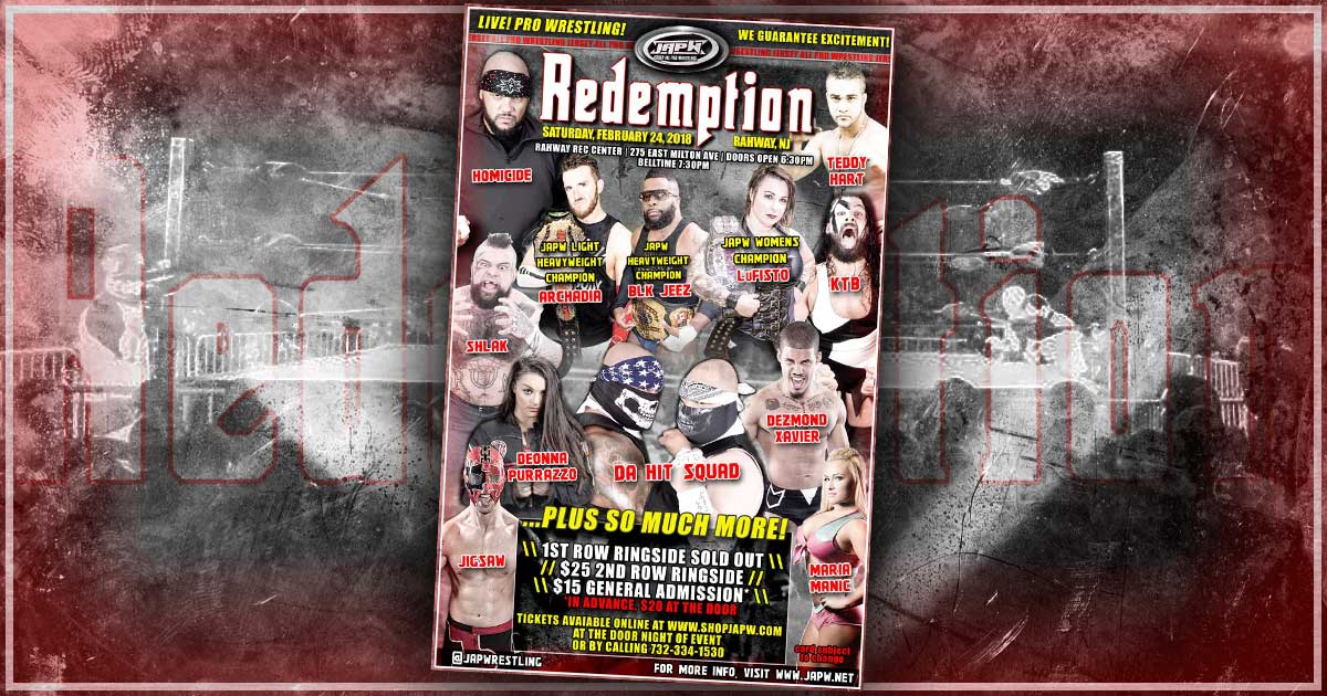 TONIGHT! JAPW Presents Redemption in Rahway, NJ!
